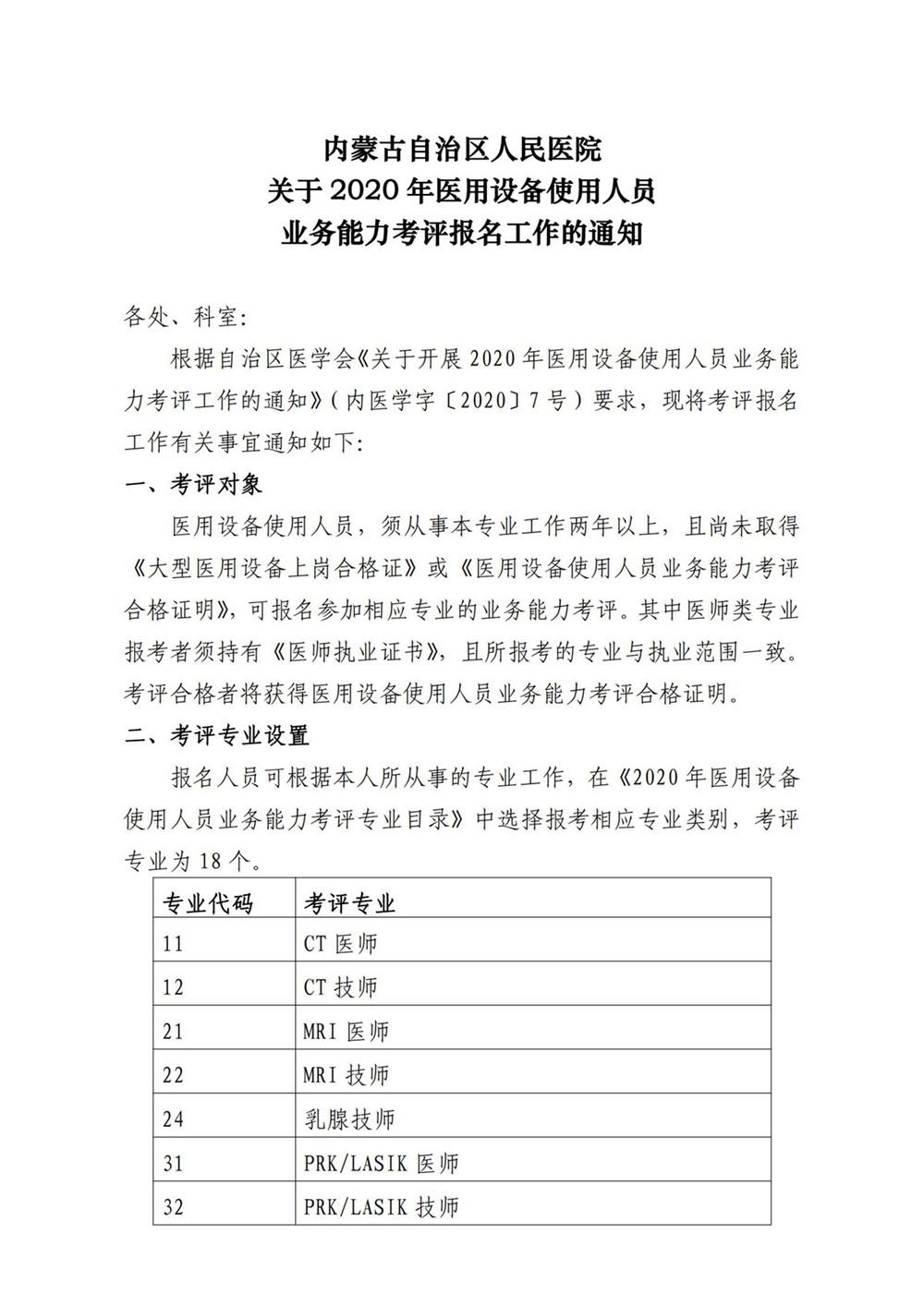 内蒙古自治区人民医院关于2020年医用设备使用人员业务能力考评工作的通知(医院下发文件)_00.jpg